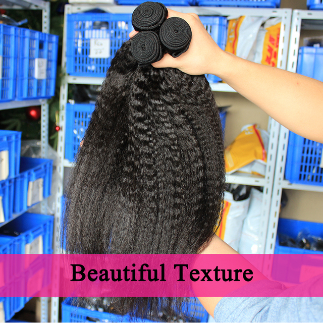 Kinky Straight Hair Brazilian Virgin Hair 3