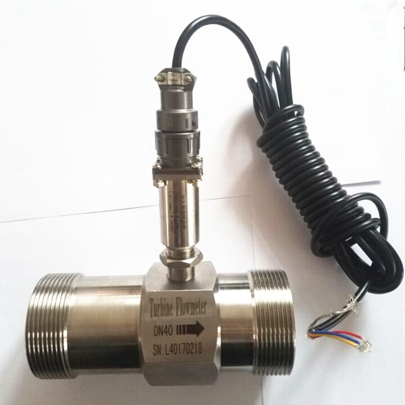 Débitmètre d'eau PLC débitmètre diesel débitmètre à turbine liquide capteur transmetteur lwgy-40 raccord fileté