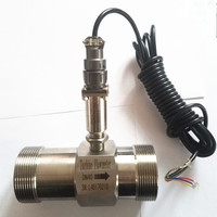 PLC water flow meter diesel flowmeter liquid turbine flow meter sensor transmitter lwgy 40 threaded connection