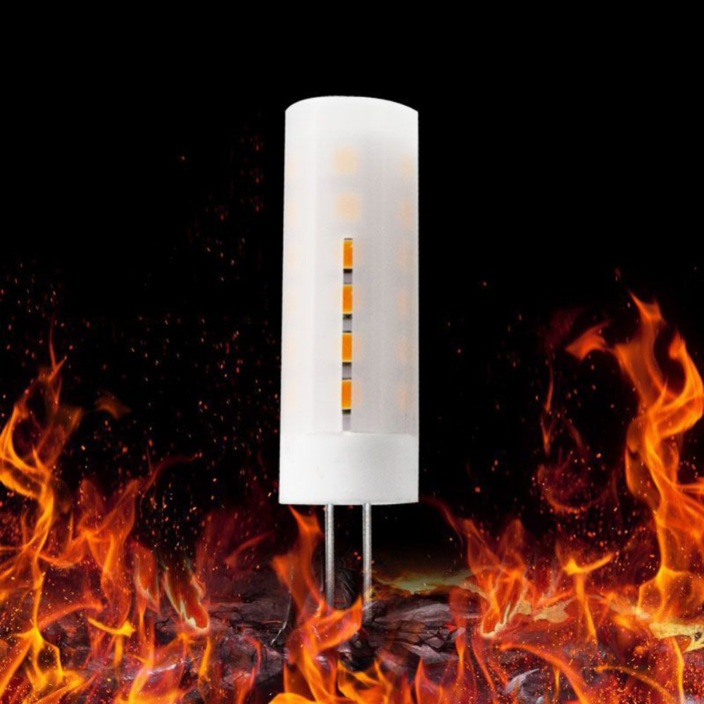 G4 Dynamic Fire Flickering Flame Effect LED Burning Corn light Bulb Lamp For Festival Decoration 2835 SMD