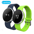UW1S Wristband BT4.0 Smart Bracelet Mirror Screen Smartwatch Heart Rate Call SMS Remind Hand raise light up For IOS Android