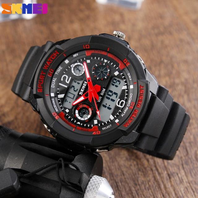 SKMEI Fashion Men LED Digital Quartz Watch Electronic Outdoor Sports Watches Man Clock Watwrproof Wristwatches Relogio Masculino