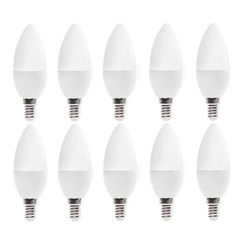 شحن مجاني! الصمام مصباح بالشمع E14 LED مصباح على شكل شمعة منخفضة الكربون الحياة SMD2835 AC220-240V الدافئة الأبيض/الأبيض توفير الطاقة 1 قطعة/الوحدة