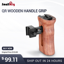 SmallRig DSLR Camera Wooden Handle Grip Quick Release NATO Side With Cold Shoe Mount 1/4 3/8 Thread Holes 2187