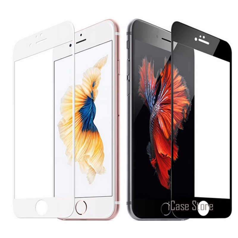Colorful Full Cover Tempered Glass for iPhone 7 7 Plus 5S 5 SE 6 6S Plus 7Plus Full Cover Screen Protector Toughened Glass Film
