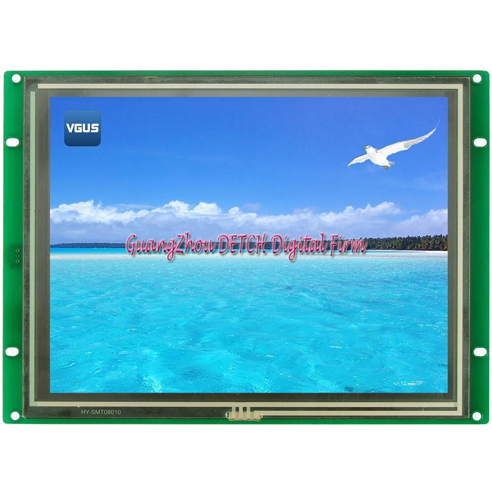 SDWe080C06T Wuhan in the display 8 inch serial LCD screen with resistance touch screen