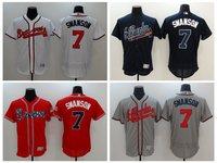 MLB Men S Atlanta Braves Dansby Swanson Flex Base Player Jerseys