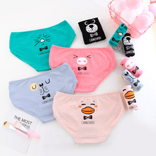 New Arrived Panties Girl Underwear Cartoon Bowknot Briefs Cotton Lingerie Soft C