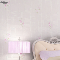 beibehang Dimensional non woven fresh European style garden wallpaper warm dining room sofa background bedroom full shop
