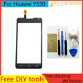 Free DIY Tools+Original New Touch Screen for Huawei Ascend Y530 Glass Capacitive sensor for huawei y530 Touch Screen panel Black