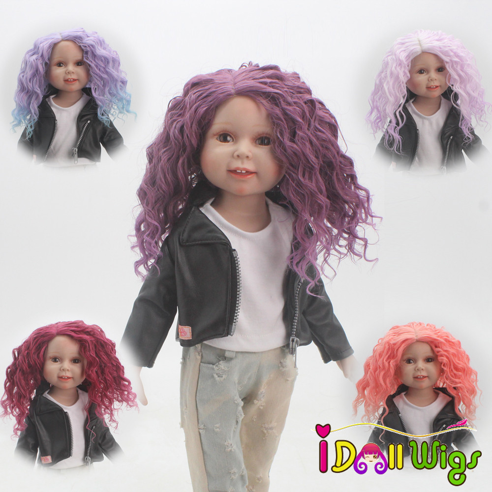 Humor Fashional African Brown&blonde Blended Doll Dreadlocks Wigs For 18 Height American Doll With 26cm Head Circumference Dolls & Stuffed Toys