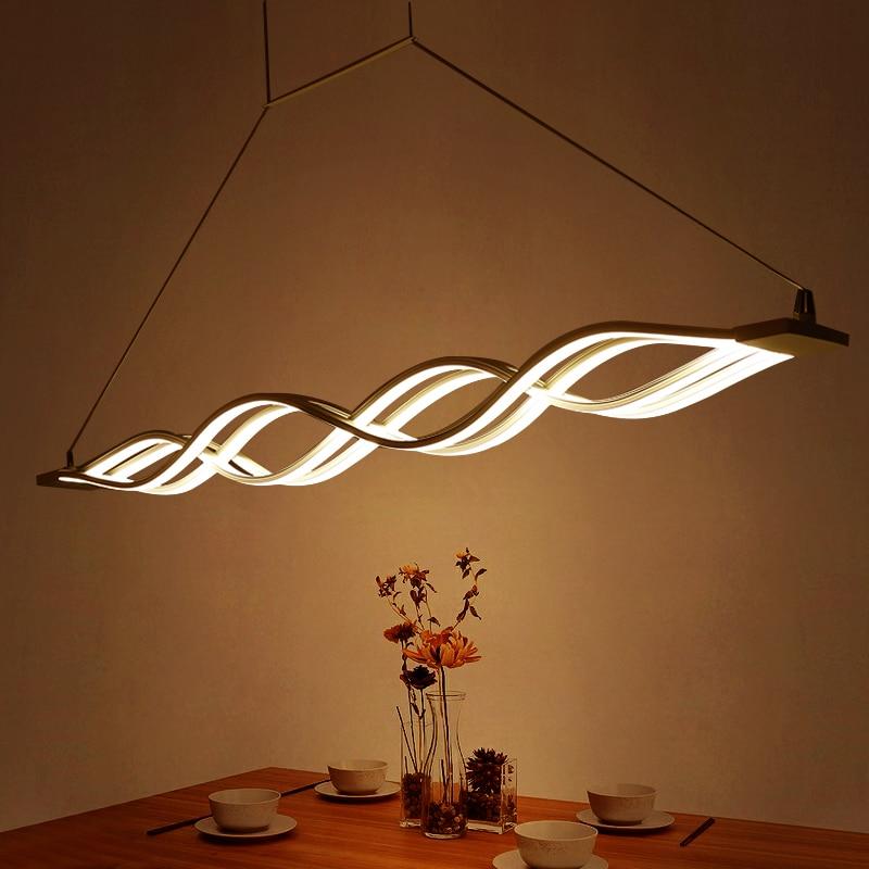 Moderní hliníkové LED přívěsek Lustry Osvětlení Luster Akrylová Jídelna Stmívatelná LED závěsná světla Led svítidla Lustr svítidla  t