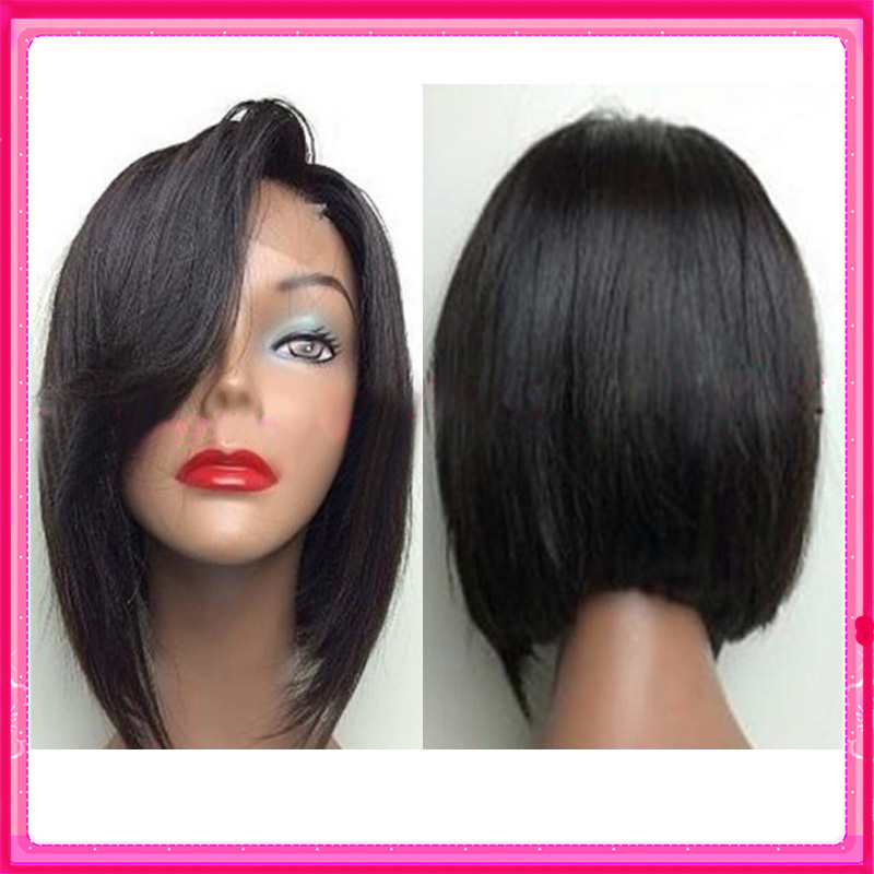 2016 New short bob wigs for black women lace front wig bob style ...