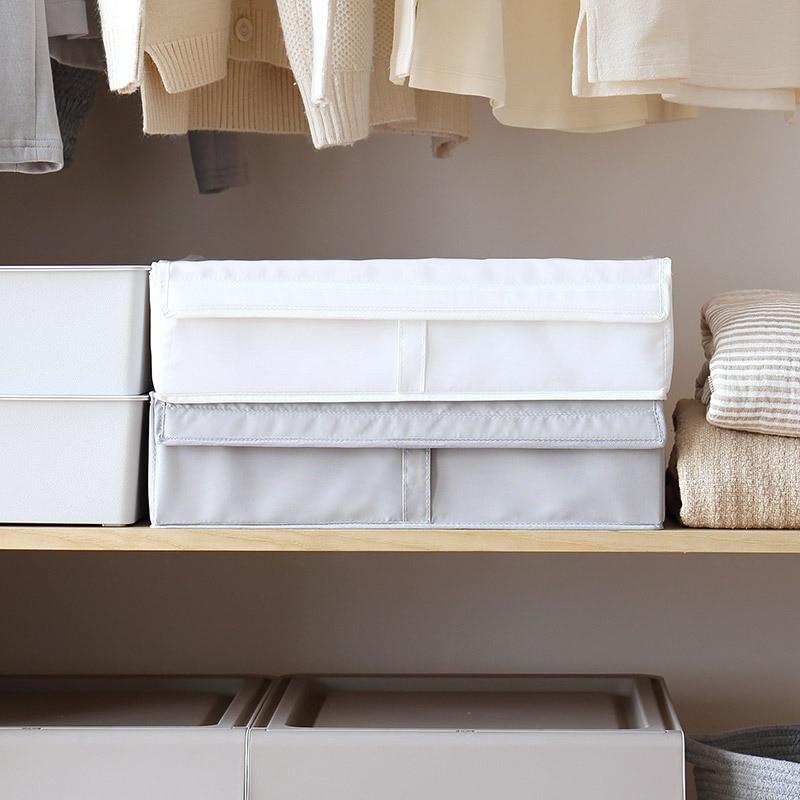 luluhut washable underwear storage box oxford cloth foldable socks bra sorting box 2 in 1 home storage wardrobe organizer in Storage Boxes Bins from Home Garden