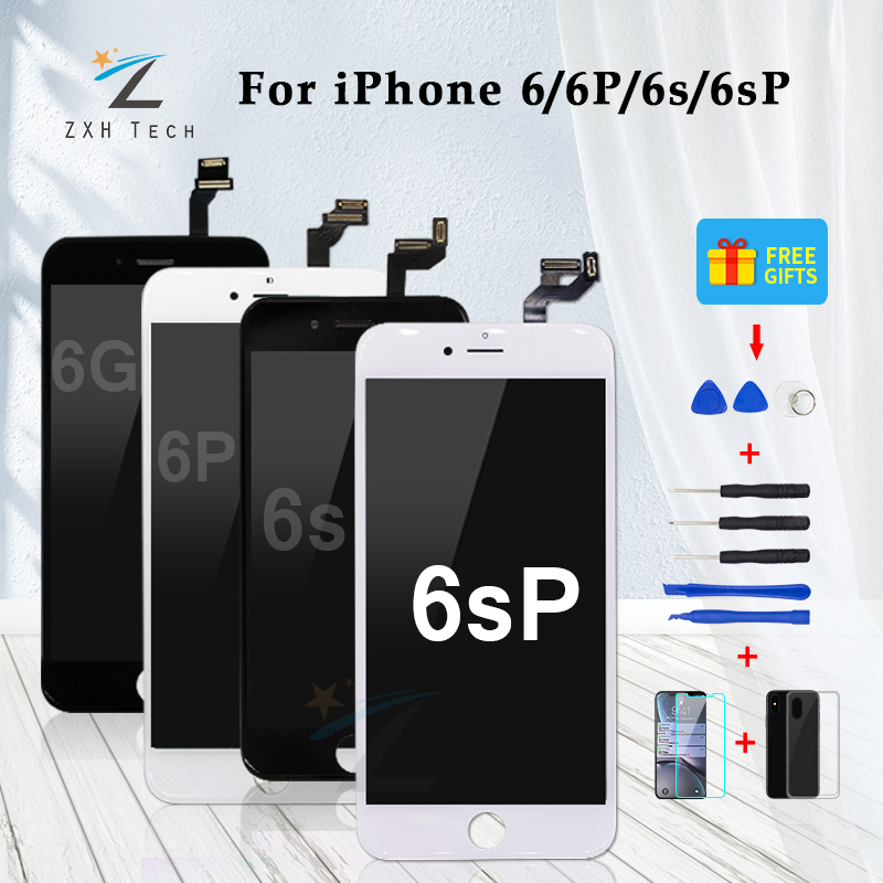 AAA LCD 3D Touch Screen Ecran For IPhone 6 6 Plus 6S 6S Plus LCD Display Pantalla Digitizer Assembly Replacement With Free Tools