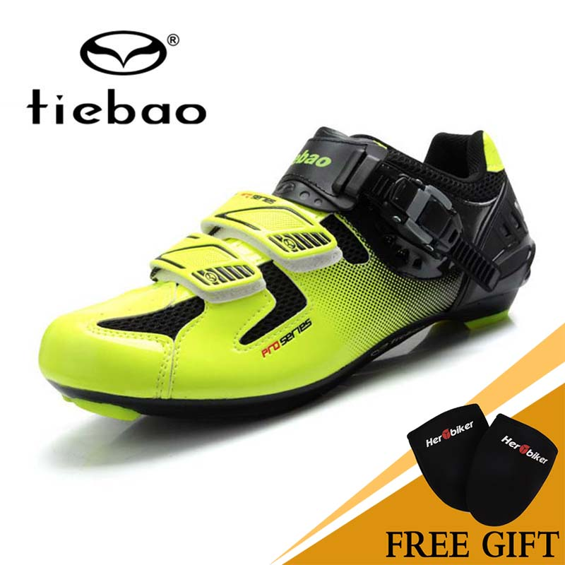 TIEBAO Road Cycling Shoes Mens Racing Team Bike Road Shoes High Quality Professional Self-Locking Athletic Bicycle Shoes tiebao professional road shoes rotating screw steel wire with fast cycling shoes road bike shoes tb16 b1259