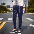 2016 New Arrival High Fashion Spring Autumn Mens Skinny Track Sweatpants Black/Navy Tracksuit Trousers Hip Hop street Trousers