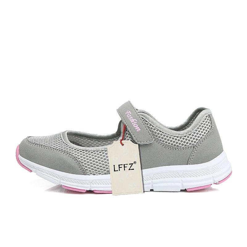 495978d4b Sapatos Luz Grande Lffz dark 35 light 41 De Outono Gray Novos vermelho  Spring Respirável Baixos 2018 Mulheres ...