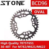 Камень звезду 96 BCD Овальный для Shimano M782 M622 M4050 M672 широкий узкий 32 т 34 36 38 40 42 T 44 46 48 T MTB велосипедная Звездочка зуб
