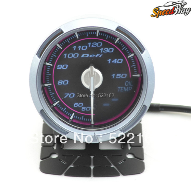 Speed Way- New Defi C2 2.5 Inch 60mm OIL TEMP GAUGE TEMP Meter (Pink and White Light)
