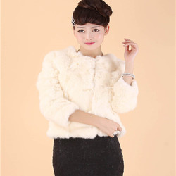 2016 new rabbit hair short fur clothing ladies seven sleeve t shirt rabbit fur coat true.jpg 250x250