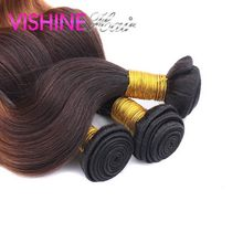 Wholesale Factory Price 10Pcs Ombre Hair Weave Bundles Brazilian Virgin Hair Body Wave Soft and Silk Natural Stema Hair