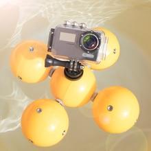 Mini Floating Ball Camera Floating Ball Underwater Diving Bobber Float Ball for Gopro 7 6 5 4 3 2 1 Sjcam Action Camera portable mini floating ball underwater diving surfing swimming buoyancy ball float ball for gopro hero 7 6 5 4 3 sjcam xiaomi yi