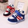 2016 1 a 3 anos de idade as crianças luz sapatos da moda bebê meninos e meninas sapatos calçados infantis botas infantil botas de tênis para caminhada de alta qualidade