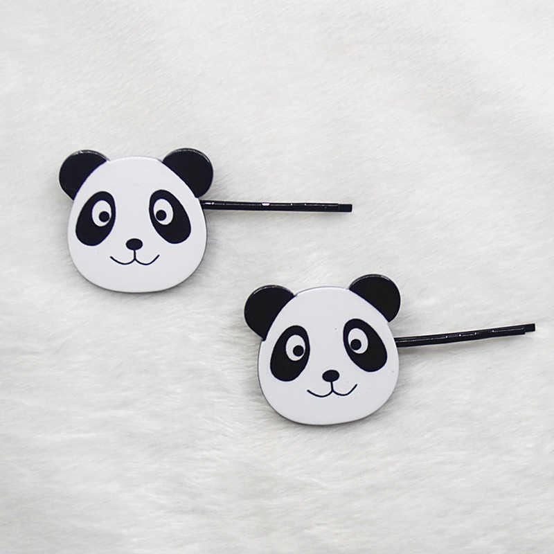 Wanita Fashion Cute Hewan Akrilik Jepit 2019 Baru Menyenangkan Panda Bb Clip Hitam Korea Trendi Pin Rambut Anak Aksesoris Kreatif