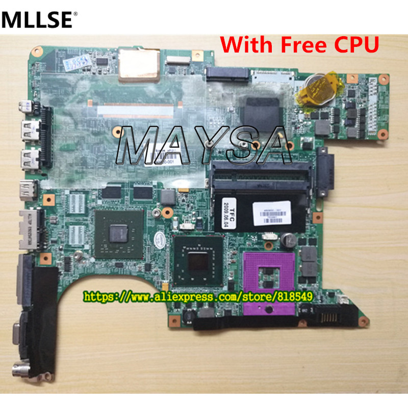 Laptop Motherboard 446476-001 Fit for HP Pavilion DV6000 DV6500 DV6600 DV6700 Notebook PC,  with FREE CPU free shipping 720266 001 motherboard for hp pavilion 17 j notebook pc 740m 2g