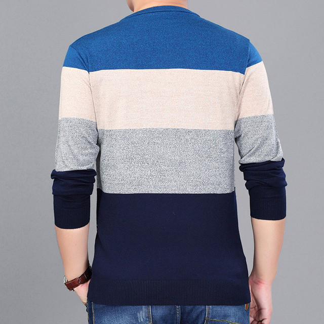Casual Mens O-neck Slim Fit Knitting Sweaters  2