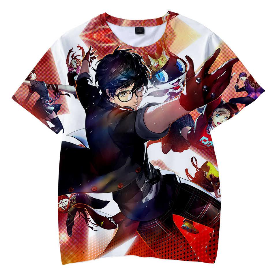 Персона 5 3D печатных дети футболки Harajuku модные летние шорты рукавом футболки 2019 Лидер продаж Повседневное уличная детская футболка