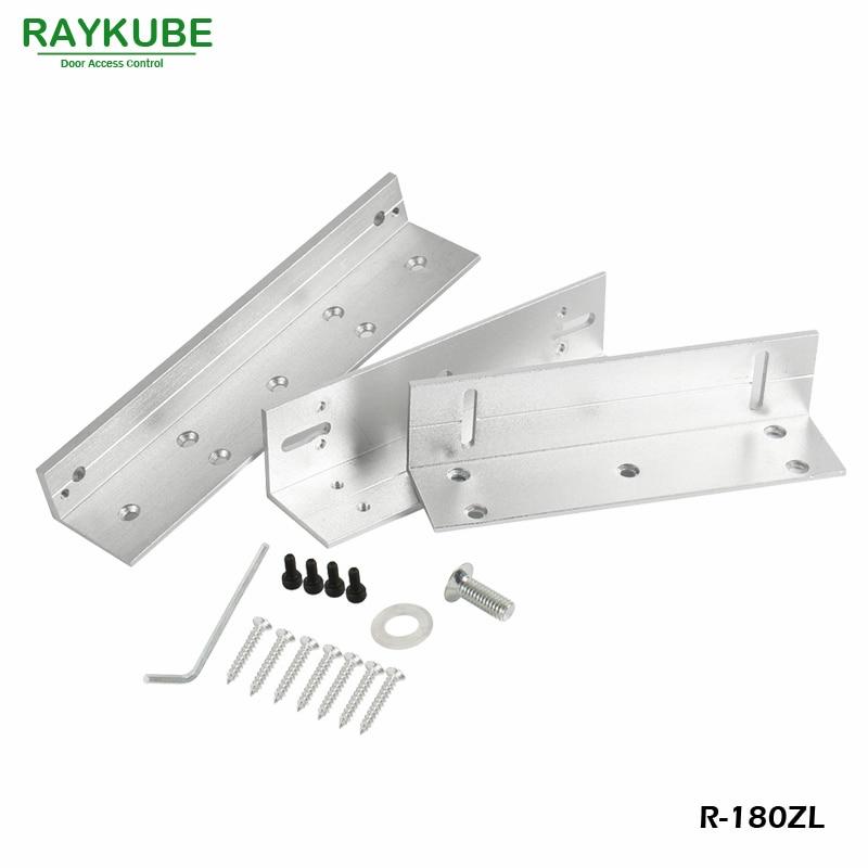 RAYKUBE Lock Bracket For 180KG Electric Magnetic Lock Installing ZL Bracket High-Strength Aluminum Alloy R-180ZL raykube u bracket for 180kg electric magnetic lock install glass door r 180u
