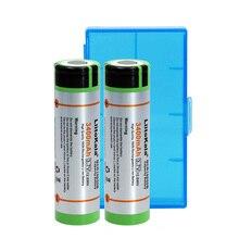 2 pcs. Liitokala 100% New Original 18650 3.7 v 3400 mAh Lthium Rechargeable battery NCR18650B industrial equipment used+BOX