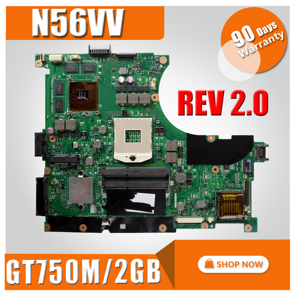 все цены на send usb board GT750M 2GB REV 2.0 N56VV motherboard For ASUS N56V N56VV Laptop motherboard N56VV mainboard