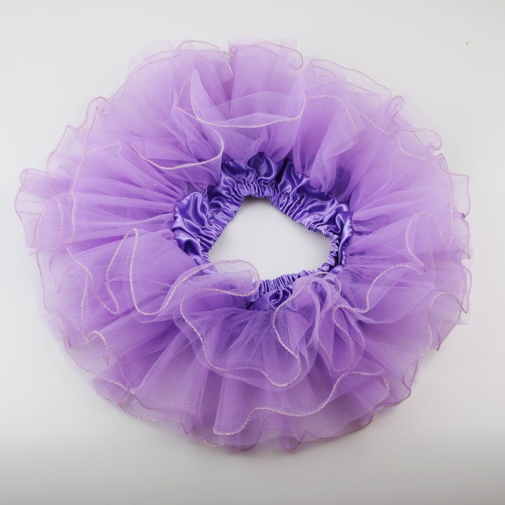 FUNZZY Girls Tutu Skirts Baby Kids Elastic Waist Princess Tulle Skirt Pom Pom Mini Skirts for Children Clothing Purple, Free Size