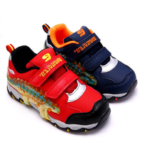 DINOSKULLS 3D Dinosaur Design LED Light Up Kids Running Shoes For Boys Fashion Comfortable Sport Sneakers School Children Shoes