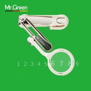Image 4 - Mr. green 성인 벨트 노인을위한 돋보기가있는 손톱 깎기 고급 수지 노인 발가락과 손가락 가위 칼