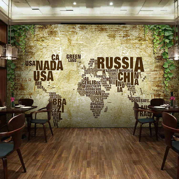 Custom wall mural personality world map bedroom living room tv tea custom wall mural personality world map bedroom living room tv tea coffee house classroom library wallpaper mural in wallpapers from home improvement on gumiabroncs Images