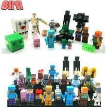 Minecrafted Экшн фигурки строительные блоки серии Steve Alex Witch Совместимость для legogilly набор образовательных кирпичей игрушки 2019