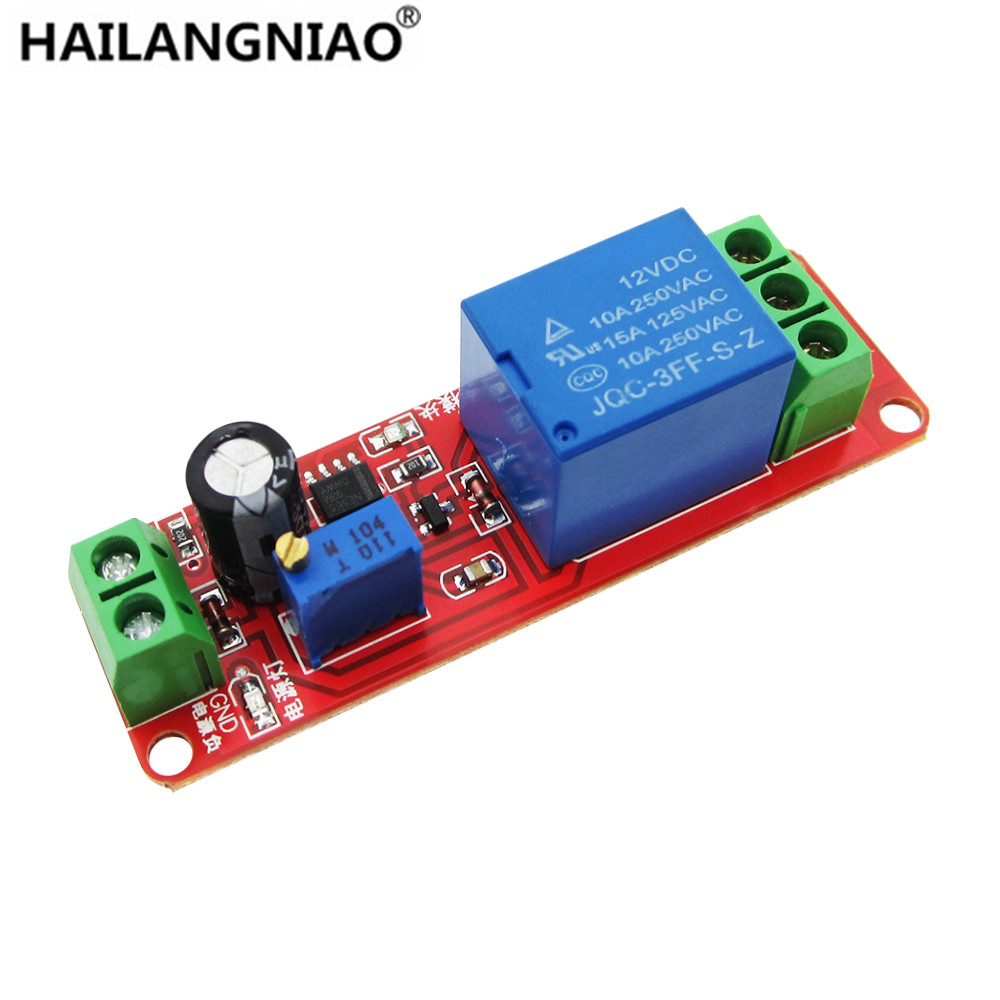DC 12V Delay relay shield NE555 Timer Switch Adjustable Module 0~10S smart 30s timer delay switch us