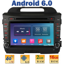 8″ Quad Core 2GB RAM 4G LTE SIM WIFI Android 6.0 Car DVD Multimedia Player Radio For KIA Sportage R 2010-2015 DAB+Mirror Link FM
