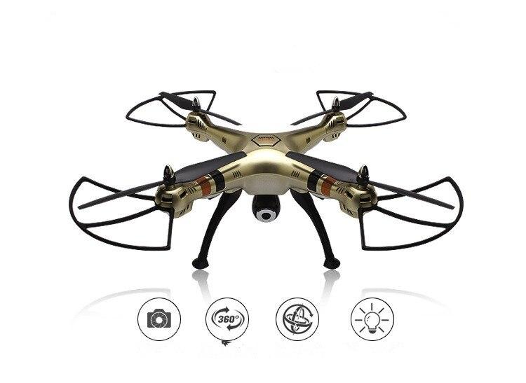 Drone professionnel Syma X8HC avec caméra 2MP HD 2.4G 4CH maintien d'altitude 6 axes Mode sans tête RC quadrirotor RTF