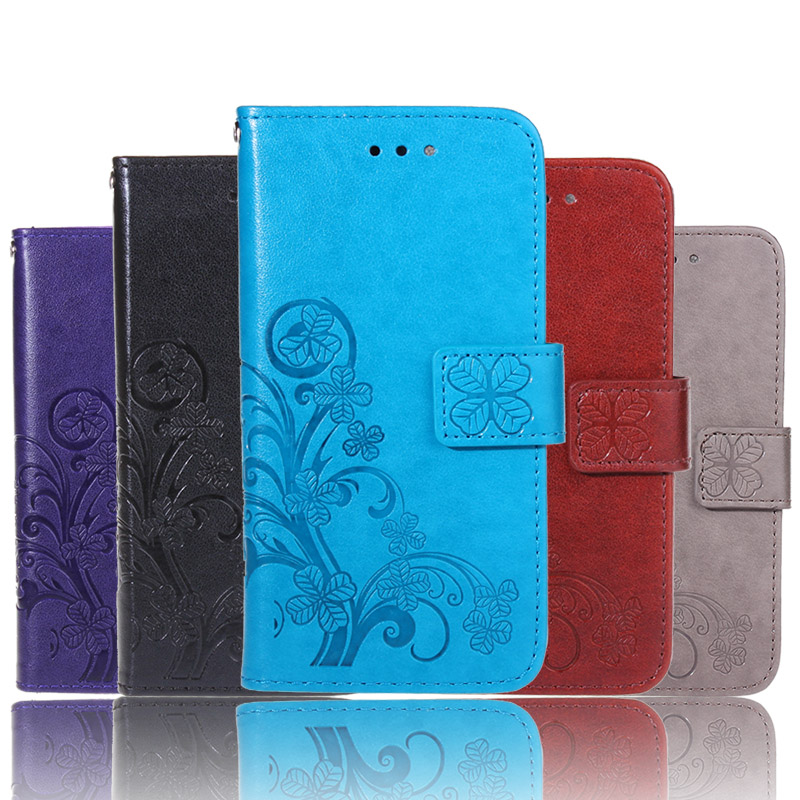 Luxury Embossed Flower Pattern PU Leather Case for Sony Xperia Z3 compact Z3 mini Flip Cover Wallet With Card Slots + Lanyard
