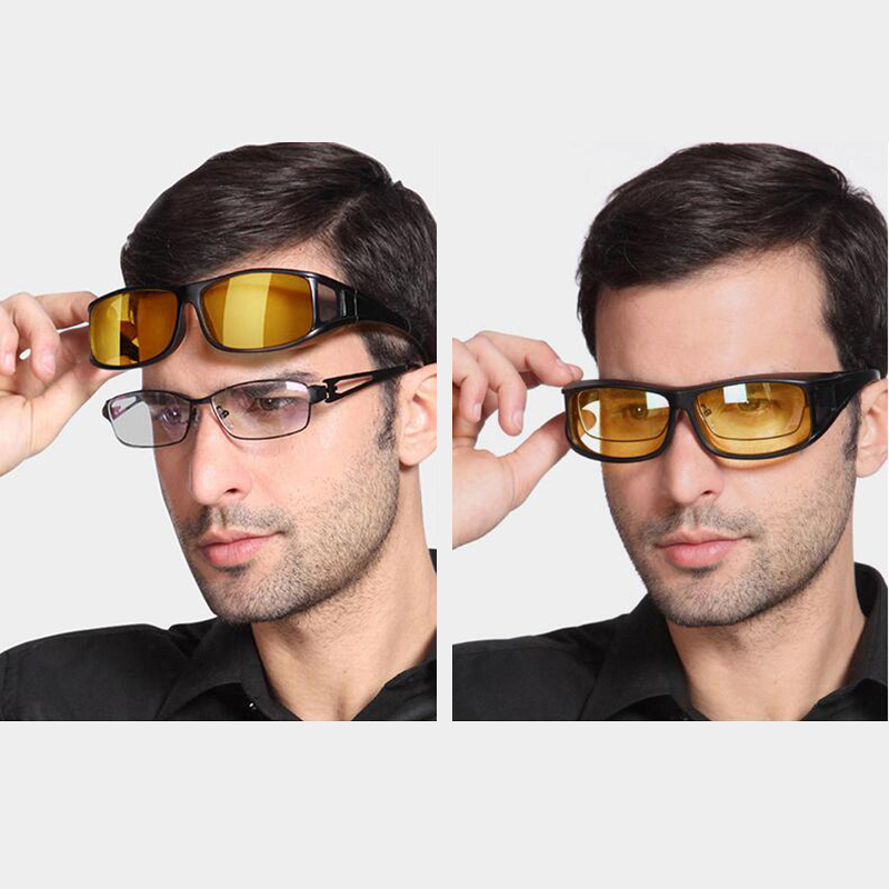 Fashion Polarized Myopia Mirror Set Glasses Men Women Day Night Driving Sunglasses Wrap Arounds Frame Eyewear in Men 39 s Sunglasses from Apparel Accessories