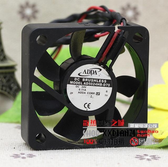 Original AD5024HB-D70 5015 0.11A segunda linha ventilador de refrigeração 5 CM 24 V tranquilo
