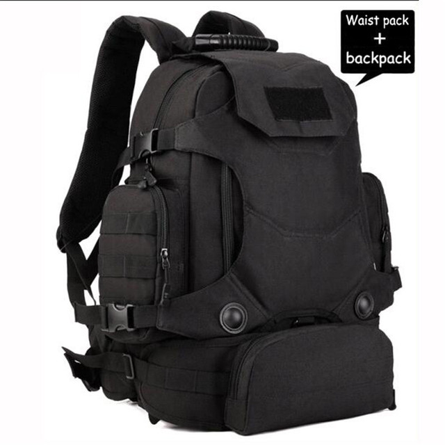 19caefc9b2 Outdoor Military Hunting bags Camping Men s backpack 40L waterproof bag  multifunctional 14 inch laptop wearproof Best-selling