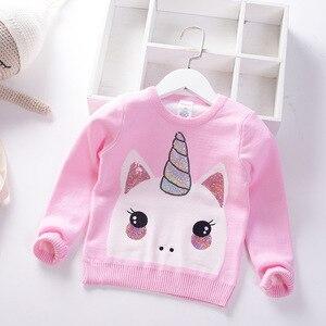 Image 2 - เด็กใหม่เสื้อกันหนาวนุ่มการ์ตูนเสื้อกันหนาวสำหรับสาวแฟชั่นSequinsเด็กถักเสื้อผ้าเด็กBoy & Girlจัมเปอร์3 7 Y