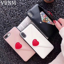 PU Leather Flip Case For iPhone XR XS MAX X 7 6 6S 8 Plus Fashion Love Heart Wallet Card Slots Cover for iPhone XR Silicone Case protective pu leather case cover w card slots strap for iphone 5c purple