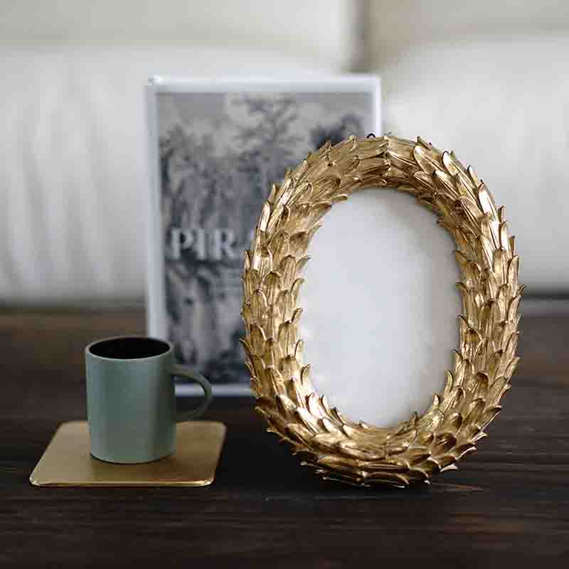Ovale en forme de cadre photo moules en caoutchouc de silicone moules résine cadre moule décoration de mariage cadre moule